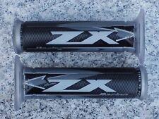Kawasaki Ninja 300 500 ZX6R ZX7R ZX9R ZX10R ZX12R ZX14R SILVER LOGO GEL GRIPS