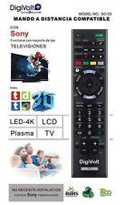 Mando a distancia Sony para Tv Lcd Led Plasma Led-4K no requiere programacion