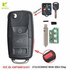 Upgraded Flip Remote Car Key Fob 315/433MHZ for Ford Lincoln Mercury CWTWB1U331