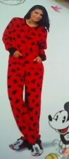 NEW Disney's Mickey Mouse Footed Pajamas Costume Red Black 1 PC S M L XL XXL LTD