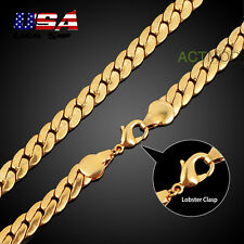 "24"" 18K Gold Plated Men'S Jewelry Curb Chain 4Mm Hip-Hop Choker Necklace #07"