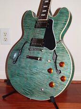 LOWEST ON EBAY!!! New/Mint 2016 Gibson Memphis ES-335 FiguredTurquoise Guitar
