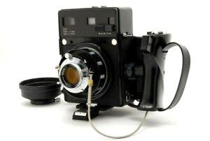 【EXC+++】 Mamiya Universal Press w/ 100mm F/3.5 Lens Film Backs Grip from JAPAN