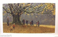 "Robert BATEMAN Signed art print "" Family Hike "" entire Bateman family"