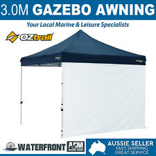 Oztrail 3.0m Deluxe Gazebo Awning White Removable Wall Shade Stall Tent Kit