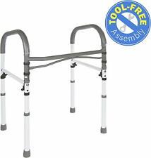 Vaunn Medical Deluxe Bathroom Safety Toilet Rail - Adjustable Handrail Assist