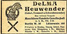 DeLMA Berlin HEUWENDER  Historische Reklame von 1920