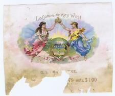 La Corona de Key West, globe, sample cigar box label, O L Schwencke #151