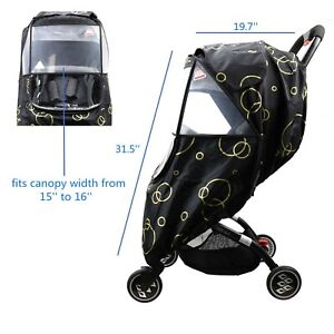 Wonder buggy Stroller Weather Shield Rain Cover with Bubble,Waterproof Windproof