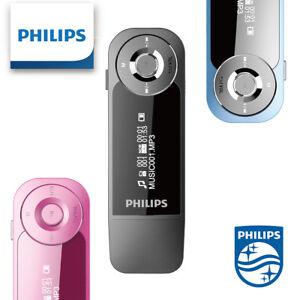 Philips SA1208 Mini MP3 Player with Clip 8GB Direct USB Digital Player FM Radio