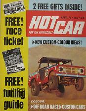 Hot Car magazine 04/1971 featuring VW-Porsche, Ford Capri, Opel Manta, Triumph