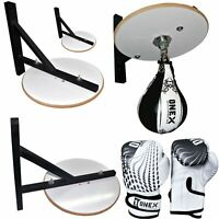 Adjustable Boxing Speed ball Punch Bag Platform Swivel MMA Fitness Training Set