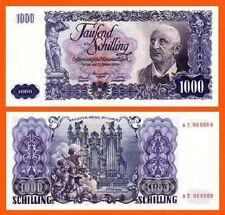 Austria 1000 Schilling 1954 UNC - Reproductions