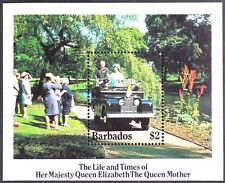AT126 BARBADOS Queen Mother, Life & Time of S/S MINT NH