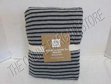 Pottery Barn Teen Tonal Stripe Favorite Tee Bed Dorm Sheets XL Twin Black Gray