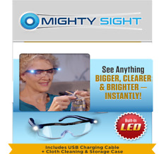 Mighty Sight LED Magnifying 160 Magnification Eyewear Glasses Reading Eye Wear