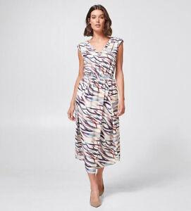 BNWT Preview Target Pleat Print Midi Dress 12 14 L Office Cue Professional