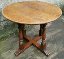 Vintage Round Solid Oak Coffee or Occasional T (52cms diameter)