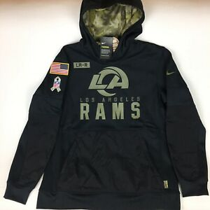 Nike Therma NFL Los Angeles Rams Salute to Service  Hoodie Men's 2XL NKDY-00A