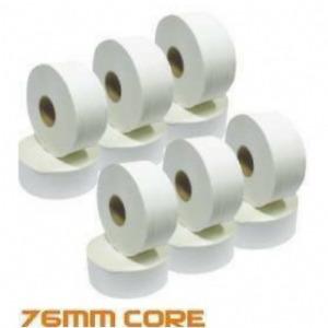 """24 x Mini Jumbo 2 Ply 3 """" Core Toilet Tissue Rolls Pure Cellulose 80m Per Roll"""