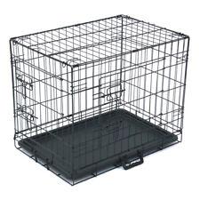 "24"" Pet Kennel Cat Dog Folding Steel Crate Animal Playpen Wire Metal"
