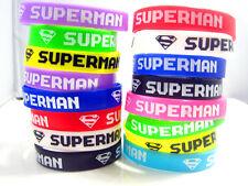 24pcs mixed lot Multi-colour Superman S silicone rubber wristbands bracelets