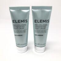 2X Elemis Pro-Collagen Oxygenating Night Cream 15ml/.50oz ea