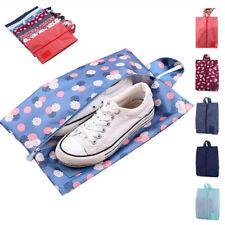 Zapato de viaje portátil impermeable bolsa bolsa de almacenamiento de nylon bolso organizador de zapatos con cremallera