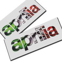 APRILIA drapeau italien texte Moto graphique décalques 2 pièces taille moyenne