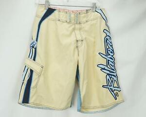 Billabong Mark Occhilupo Signature Board Shorts Swim Yellow Men's Waist 30