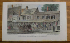 1857 Antique COLOR Print/NEW YORK CITY, OLD HOUSES ON CHATHAM STREET
