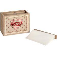 Vintage Style Rustic Wooden Photo Album Box Love Lettering 16821-HI