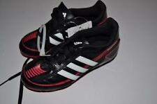 ADIDAS SOCCER PUNTERO VI TRX BLACK RED STRIPED SHOES YOUTH KIDS SIZE 12K 12 NEW