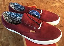 Vans Era Decon CA Pig Suede Cactus Port Royale SIZE 10.5 NEW WITH BOX Maroon