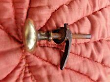 ancienne petite poignée en bronze-loquet de porte-horloge-cour de ferme-XIX ème