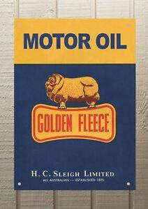 Golden Fleece Motor Petrol Oil Man Cave Metal A4 Sign