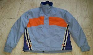 Obermeyer Ladies Ski Jacket w/hood size 6 blue/orange/mojave/Thermolite active