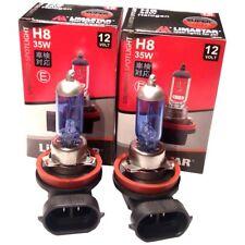 2x H8 Xenon Look Looks 6000K Super White 12v 35w spare bulbs nebelscheinwerfe