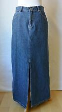 GAP Jeans Long Blue Denim MAXI Skirt Modest Hippie BOHO Western Cowgirl Cotton 4