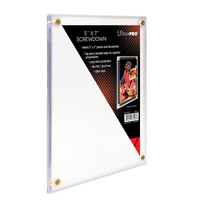 """Ultra-Pro 5"""" x 7"""" Screwdown Holder Photo Picture Card Large Cards Postcards"""