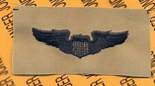 USAF Air Force Basic Pilot Aviation Desert Black wing cloth patch