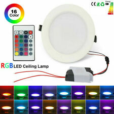10W RGB LED Recessed Ceiling Panel Down Light Lamp 16 Color Change + IR Remote