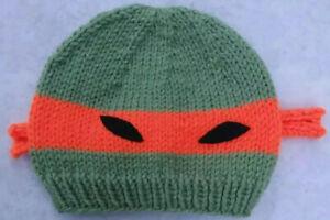 Baby New Knit Hat Michelangelo Teenage Mutant Ninja Turtle Photo Shoot Orange