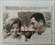 More details for press wirephoto 8x10 portait peron smiles at wife isabel in exile in madrid 1965