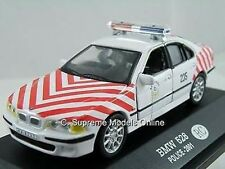 BMW 528 POLICE CAR MODEL 2001 RC 1/43RD SCALE MINT PACKED EMERGENCY (=)
