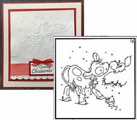 Koetie Squirrel Christmas Embossing Folder PIF018 Nellie embossing folders