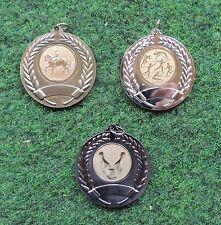 Pokale & Preise Turnier Jugend Medaille Geburtstag 50 Fußball Medaillen altgold mit Band #FB2