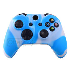 Silicone Gel Rubber Case Skin Grip Cover For Xbox One Controller Baby Blue Camo