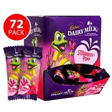 Bulk Lot 72 x Cadbury Dairy Milk Strawberry Pond Freddo Frog 15g Bars Frogs Bar