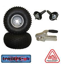 ATV Trailer Kit - Wheels, Hubs/Stubs and BRADLEY D201 Cast Coupling - FREE DEL